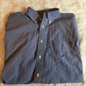 Nautica Men's Button up Long Sleeve Shirt Size XL